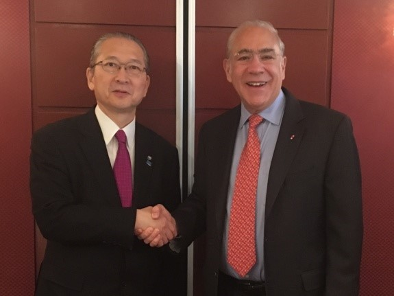 The President KOZU and Secretary General Angel Gurria